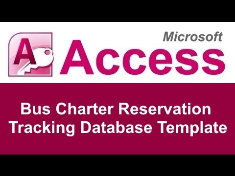 Microsoft Access Bus Charter Reservation Tracking Database Template