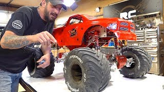 MAN speaks of his GIANT 5th scale MEGA MONSTER TRUCK - 49cc GAS POWERED RAMINATOR | RC ADVENTURES