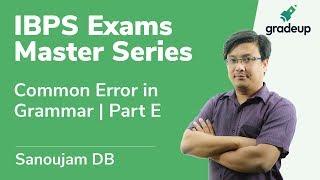 English   Class 11   Common Error in Grammar   Part E   Sanoujam DB