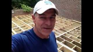 How To Frame A Deck / Must See This Is Big/ Mr. Fix-all Home & Garden Inc. Part5