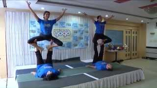 AcroYoga Demonstration on 1st Anniversary Celebrations