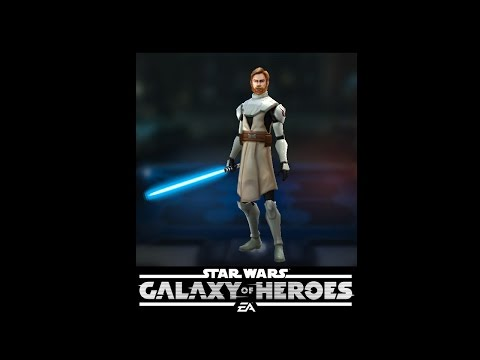 SWGOH - General Kenobi in action - Star Wars Galaxy of Heroe