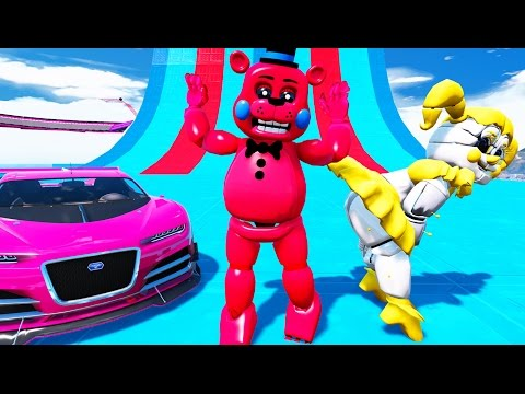 YOU WON'T BELIEVE WHAT RED TOY FREDDY & GOLDEN BABY DID! (GTA 5 Mods For Kids FNAF) RedHatter