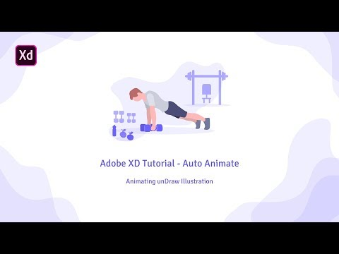 Adobe XD Tutorial - Auto Animate | Animating UnDraw Illustration