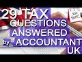 29 TAX questions ANSWERED by DNS ACCOUNTANTS in UK