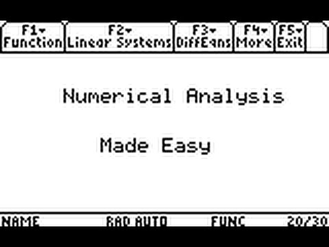 ▷Numerical Analysis Made Easy - Step by Step ✅ - using the TI89