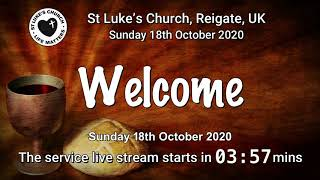 St Luke's Reigate - 18th October 2020