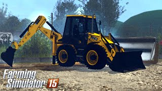 Repeat youtube video Farming Simulator 15 - JCB 4 CX Backhoe Loader