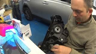 Потеют фары, Toyota RAV4 Hybrid устранение запотевания фары