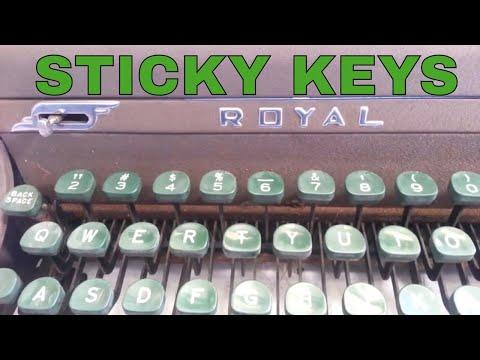 Royal Quiet De Luxe Typewriter Sticky Keys Segment Flush Clean
