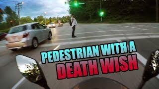 Pedestrian With A Death Wish | LightMode Motovlogs
