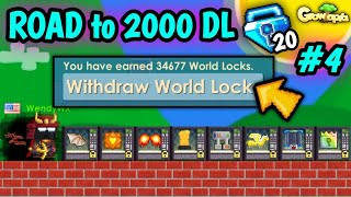COLLECTING TONS DLS FROM VENDING MACHINE !!   #4 Road to 2000 DL   Growtopia