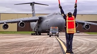 C-5 Galaxy Arrives At RAF Fairford