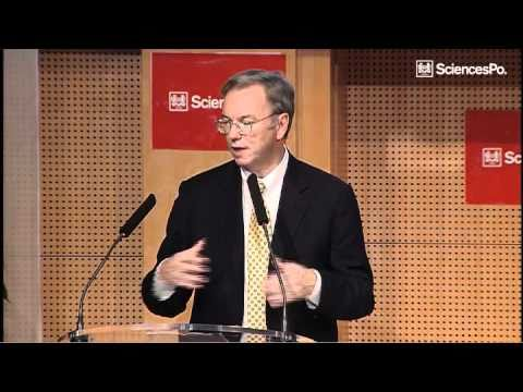 Eric Schmidt at Sciences Po : 4 projects for Google in France
