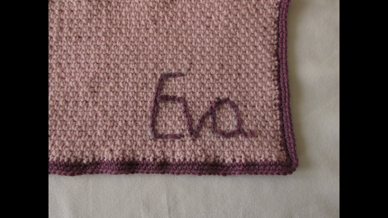 How To Crochet A Personalised Baby Blanket Crochet Monogrammed