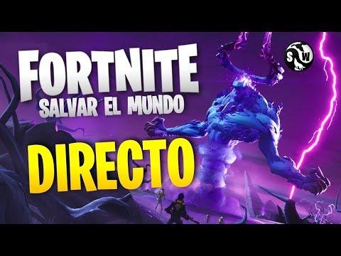 Fortnite Salvar El Mundo   Directo NOV-30-2019   Rey de la Tormenta Mitico y vBucks con Subs