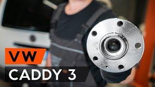 Kā nomainīt aizmugurējo riteņa rumbas gultnis VW CADDY 3 (2KB) [PAMĀCĪBA AUTODOC]