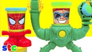 Play Doh Marvel Avengers Can Heads Spiderman y Doctor Octopus