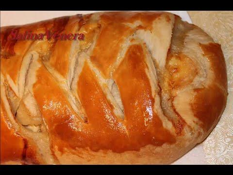 пирог с грибами и сыром рецепт с фото из слоеного теста