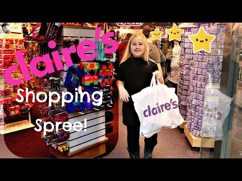 MY FIRST CLAIRE'S SHOPPING SPREE AND HAUL VIDEO 2018