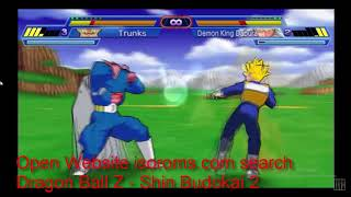 Dragon Ball Z Shin Budokai 2 PSP ISO For PPSSPP Android pc Emulator