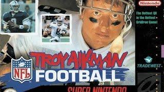 Troy Aikman NFL Football (Super Nintendo) - Game Play
