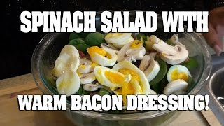 Mariah Milano's Spinach Salad With Warm Bacon Dressing!