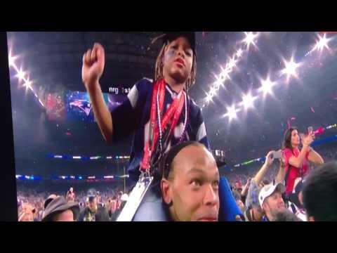 Patriots win 5th super bowl against falcons Tom Brady MVP Speech