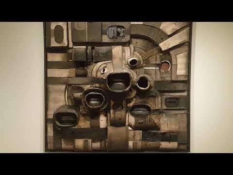 Honolulu Museum of Art Welded Steel and Canvas by American Artist Lee Bontecou