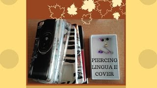 PIERCING LINGUA + COVER PER HUAWEI P8 LITE