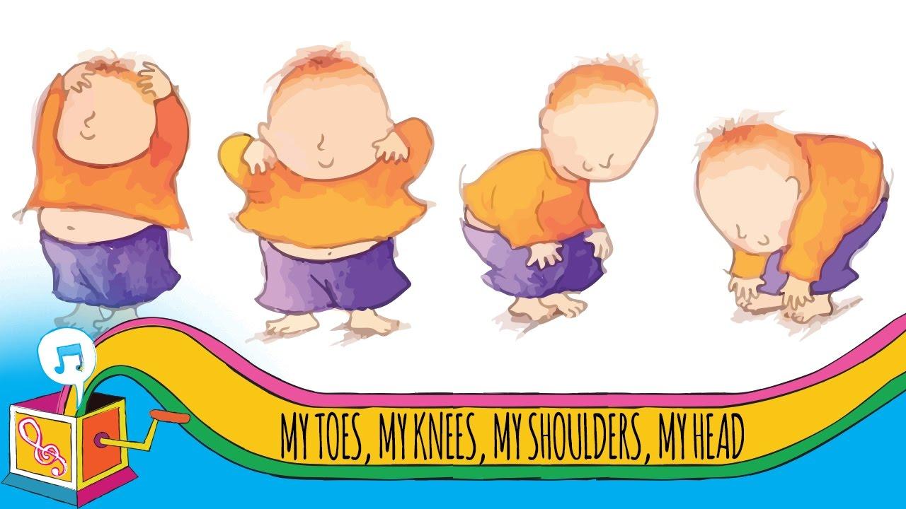 My Toes My Knees My Shoulders My Head Nursery Rhyme Karaoke