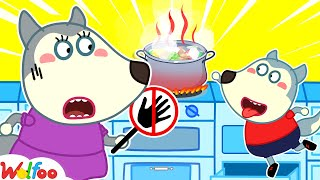 No No, It's Hot! - Wolfoo Learns Kids Safety Tips with Mommy - Play Safe in Kitchen | Wolfoo Channel