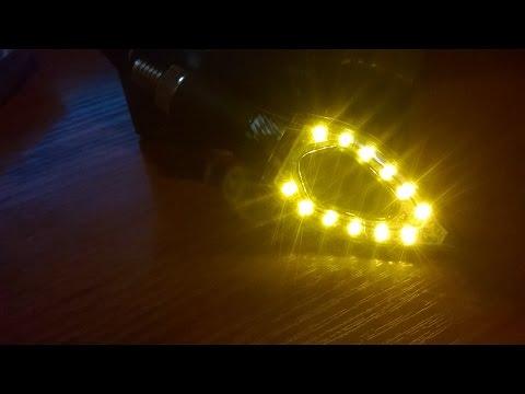 Как подключить светодиодные повороты на мотоцикл / Led повороты с Aliexpress