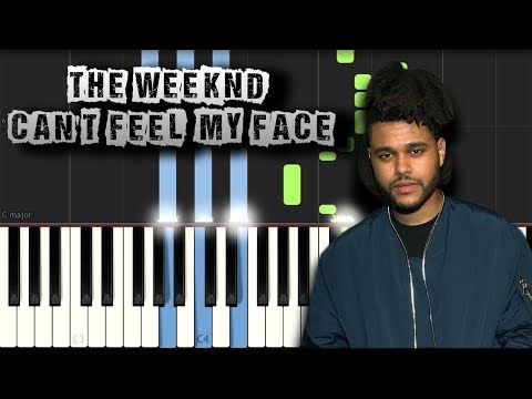 The Weeknd - Can't Feel My Face - Piano Tutorial Synthesia (Download MIDI)