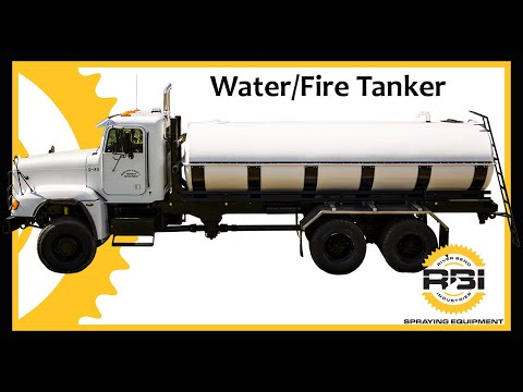 Water Tanker - 4000 Gallon - Fiberglass Tank - Fire Tender