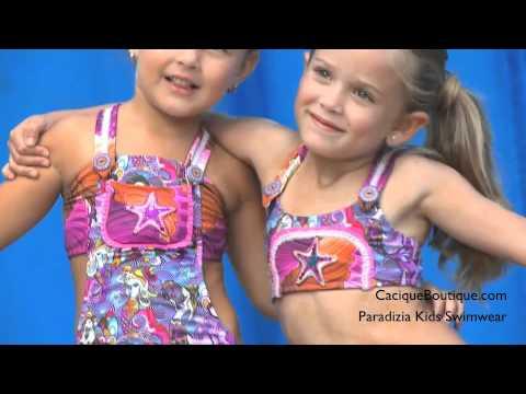 Paradizia Kids Swimwear - Siren In Love Swimsuit