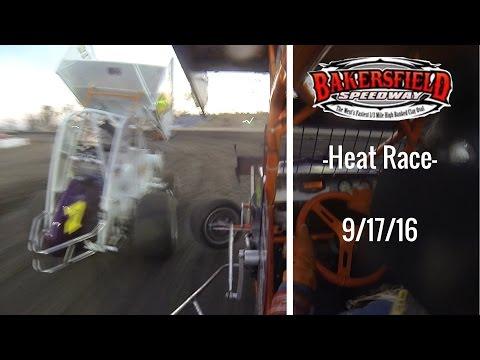 California Lightning Sprint at Bakersfield Speedway -Heat Race- 9/17/16