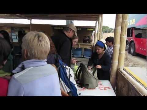 Cruz Del Sur Bus Stop In Paracas, Peru