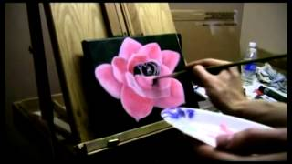 How to Paint a Pink Rose Tutorial - Acrylic Painting Lesson