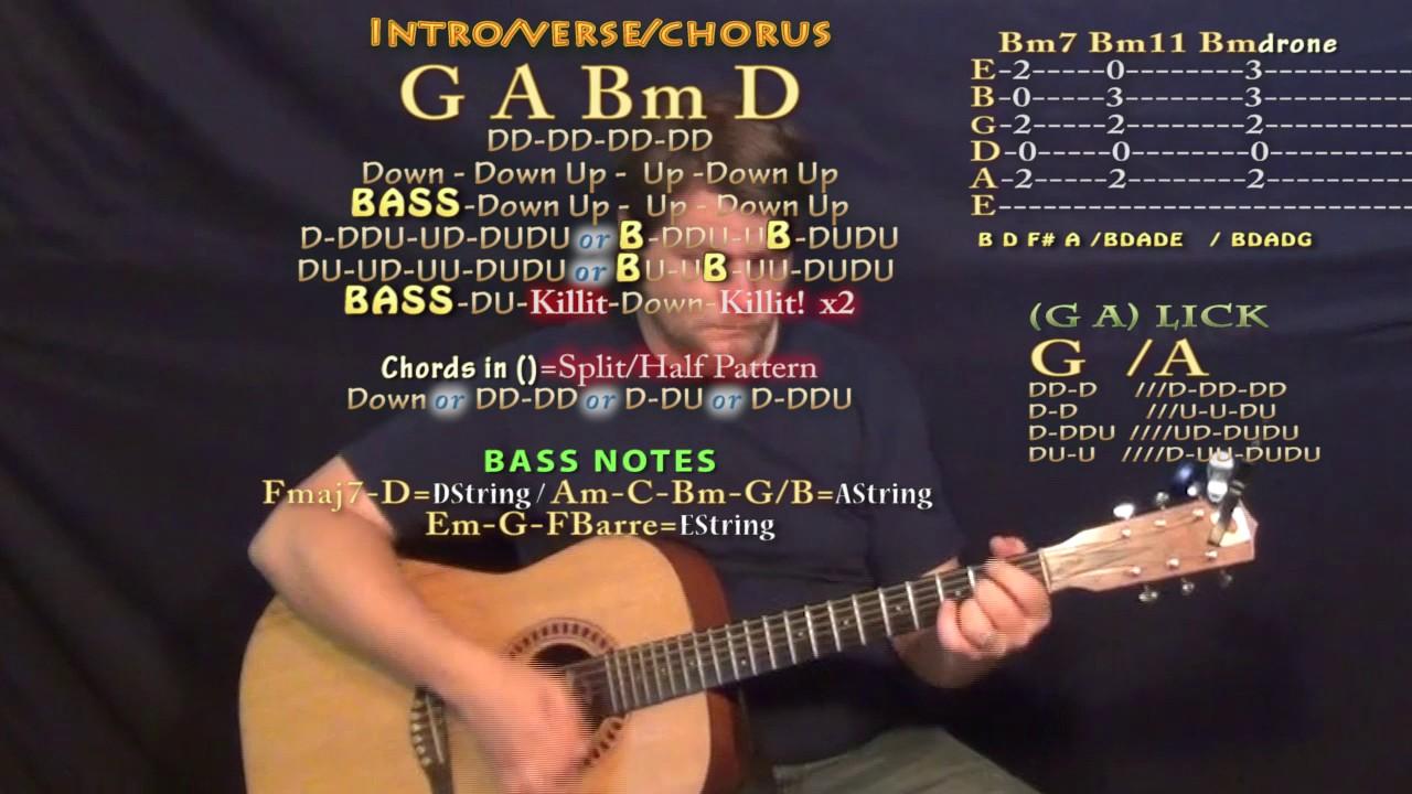 Alone Marshmello Guitar Lesson Chord Chart In D Major G A Bm D