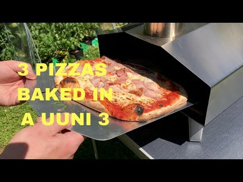 Uuni 3 and 3 homemade wood-fired oven pizzas. | Ooni