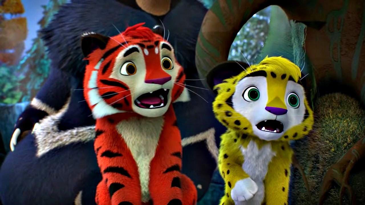 🐾 Лео и Тиг 🐾 сборник серий с 1 по 10   Детям про животных 🐱  Мультфильм HD