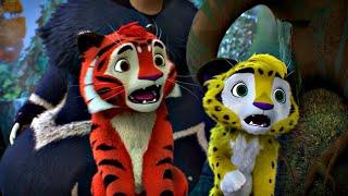 Лео и Тиг сборник серий с 1 по 10 Детям про животных Мультфильм HD