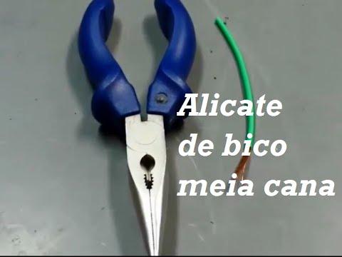 Como desencapar cabos elétricos - Alicate de bico meia cana