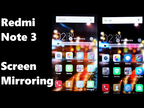 Redmi Note 3 Screen Mirroring Tutorial (Wireless Display) Sony Bravia- By  GeekiReview