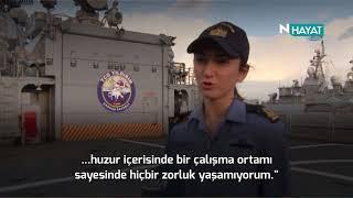 N Hayat... Gemide görev yapan tek kadın subay