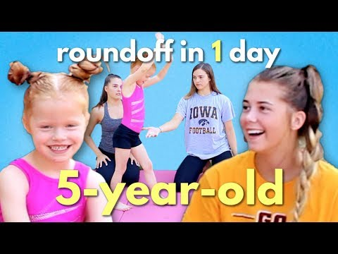 Teaching a 5 Year Old a Roundoff in One Day