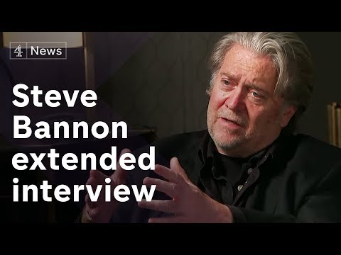 Steve Bannon extended interview on Europe's far-right and Cambridge Analytica