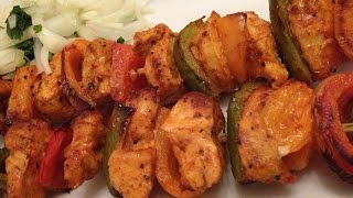 Chicken Kebab - Grilled Chicken Skewers - Chicken Kebabs Recipe