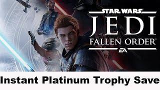 Star Wars Jedi Fallen Order - Instant Platinum Trophy Save - US & EU Version